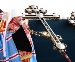 Освящение крестов храма