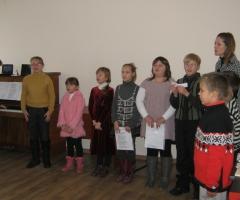 Первый концерт воспитанников воскресной школы