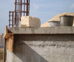Строительство храма - Молебен перед началом строительных работ 2009 год