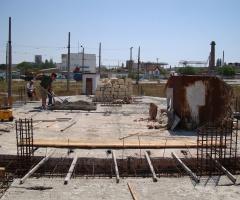 Строительство храма - Возведение стен храма 2009 год