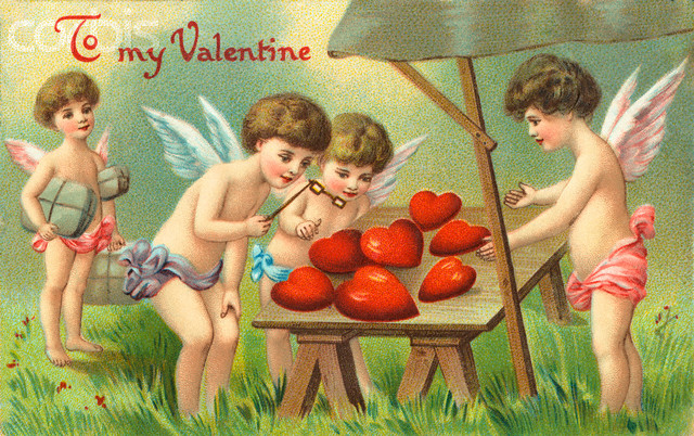 1910 --- To My Valentine Postcard --- Image by © Swim Ink 2, LLC/CORBIS